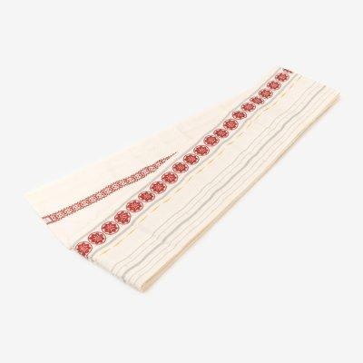 博多 半巾小袋帯/乳白(にゅうはく)