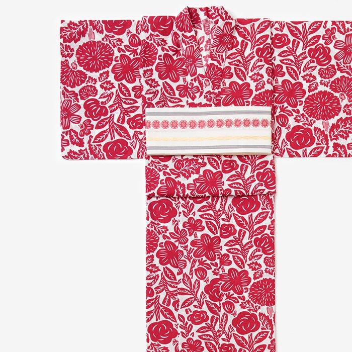 SOU・SOU×京都丸紅 浴衣/版画 桜桃色(はんが おうとういろ)