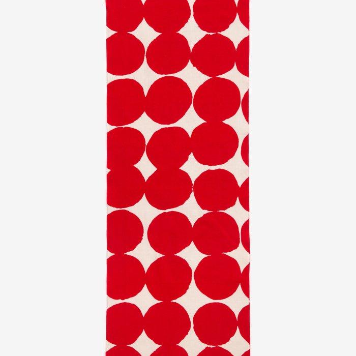 テキスタイル計り売り (伊勢木綿 手ぬぐい)/おはじき 大 乳白(にゅうはく)×深緋(こきひ)<50cm>