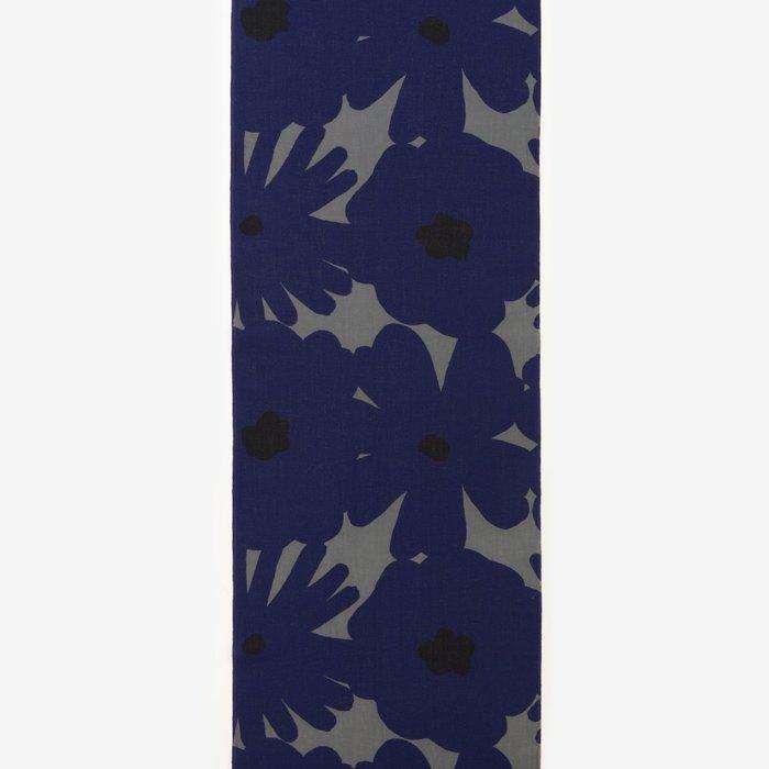テキスタイル計り売り (伊勢木綿 手ぬぐい)/おおらか 利休鼠×群青色(りきゅうねず×ぐんじょういろ)<10cm>