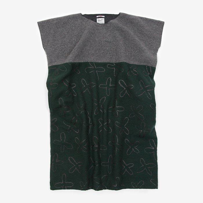 羅紗 長方形衣 組(くみ)/杢墨×すずしろ 千歳緑