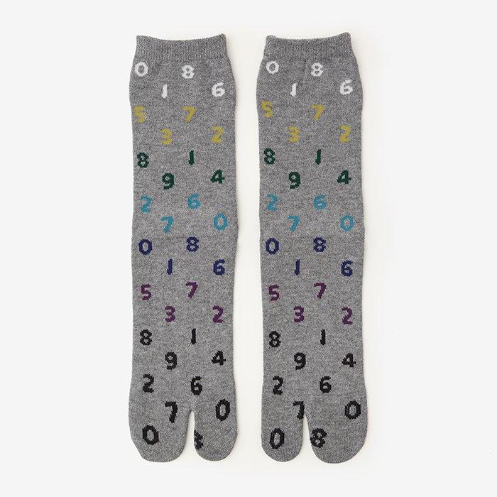 足袋下(普通丈)/SO-SU-U 階調 杢灰(かいちょう もくはい) 【男・女性用】