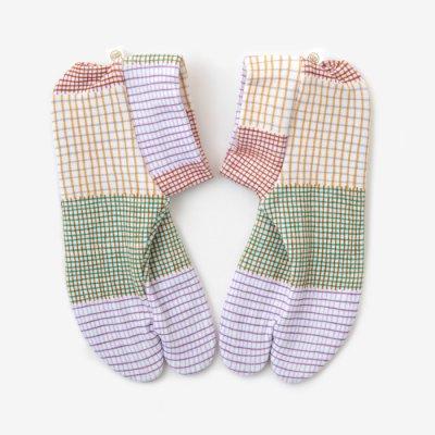 ストレッチ足袋 柄 綿/ささやき 春(はる) ※滑り止め付