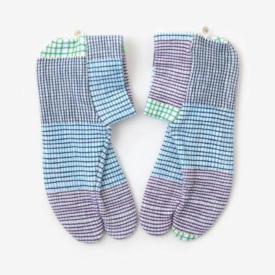 ストレッチ足袋 柄 綿/ささやき 夏(なつ) ※滑り止め付