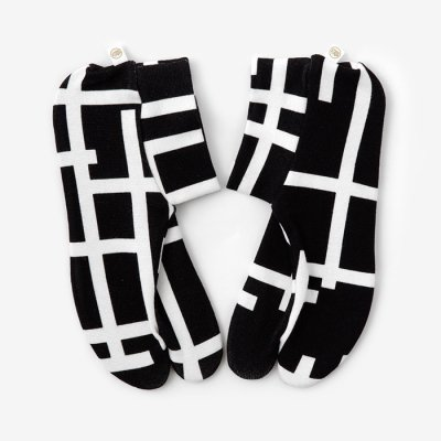ストレッチ足袋 柄 綿/桟 小(さん しょう) ※滑り止め付