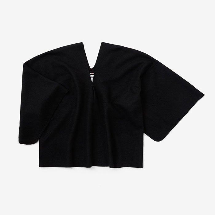 小袖貫頭衣 短丈(こそでかんとうい みじかたけ)/濡羽色(ぬればいろ)