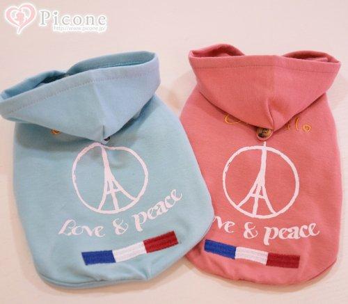 【cinofilo(チノフィロ)】LOVE&PEACE PT&刺繍パーカー