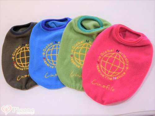 【cinofilo(チノフィロ)】GLOBAL HARMONY 刺繍定番フリースTシャツ