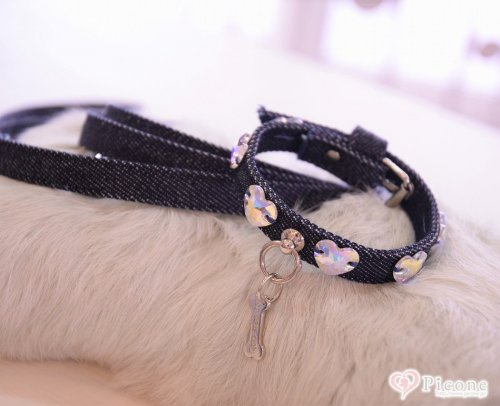 【For Pets Only】 LoveMeJeansCollar&...