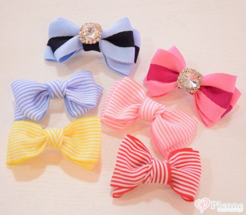 【WOOFLINK】STRIPE DOLLY BOW &LIT...