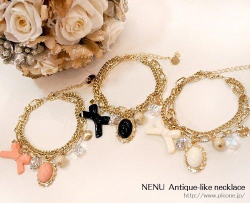【nenu】 アンティーク風ネックレス