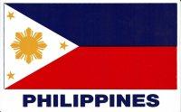 フィリピン国旗ステッカー (小)