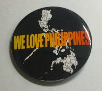<img class='new_mark_img1' src='//img.shop-pro.jp/img/new/icons2.gif' style='border:none;display:inline;margin:0px;padding:0px;width:auto;' />WE LOVE PHILIPPINES 缶バッジ(オリジナルデザイン) 57mm