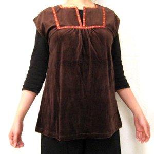 エスニックファッション・アジアンファッション  ベロアプルオーバー/エスニックファッション・アジアンファッション・アウトレット・セール