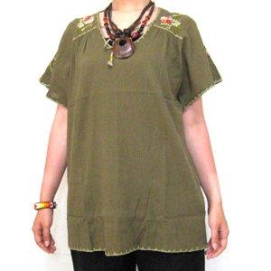 エスニックファッション・アジアンファッション  カラフル刺繍プルオーバー/エスニックファッション・アジアンファッション・アウトレット・セール