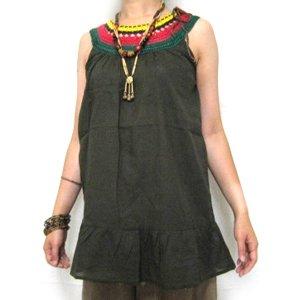 エスニックファッション・アジアンファッション  カラフルクローシェタンクトップ/エスニックファッション・アジアンファッション・アウトレット・セール