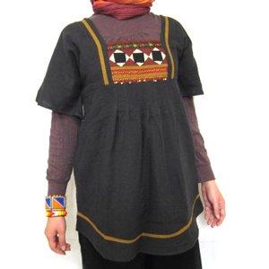 エスニックファッション・アジアンファッション  モン族アップリケチュニック/エスニックファッション・アジアンファッション・アウトレット・セール