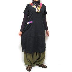 エスニックファッション・アジアンファッション インド刺繍ロングワンピース