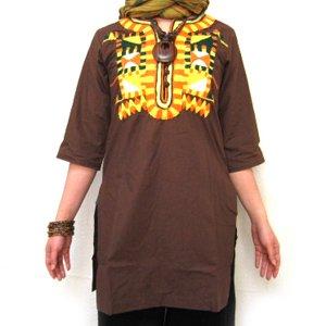 エスニックファッション・アジアンファッション  【オリジナル】ネイティブ刺繍クルタ/エスニックファッション・アジアンファッション・アウトレット