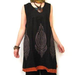 エスニックファッション・アジアンファッション  ペイズリー&ドットチュニックワンピース/エスニックファッション・アジアンファッション・アウトレット
