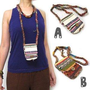 エスニックファッション・アジアンファッション  ポーチ付ネックレス/エスニックファッション・アジアンファッション・アウトレット・セール