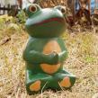 木彫座禅カエル