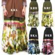 ボトムタイダイロングスカート/エスニックファッション・アジアンファッション・アウトレット・セール