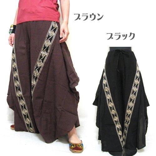 エスニックファッション・アジアンファッション  ぐるぐる変形ワイドパンツ/エスニックファッション・アジアンファッション・エスニックパンツ・ワイド