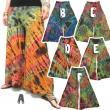 タイダイフレアーワイドパンツ/エスニックファッション・アジアンファッション・アウトレット・セール