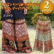 キカジャガードパンツ/エスニックファッション・アジアンファッション・エスニックパンツ・オリエンタル