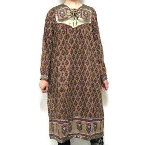 エスニックファッション・アジアンファッション  ゴールデンプリントドレス/エスニックファッション・アジアンファッション・アウトレット・セール