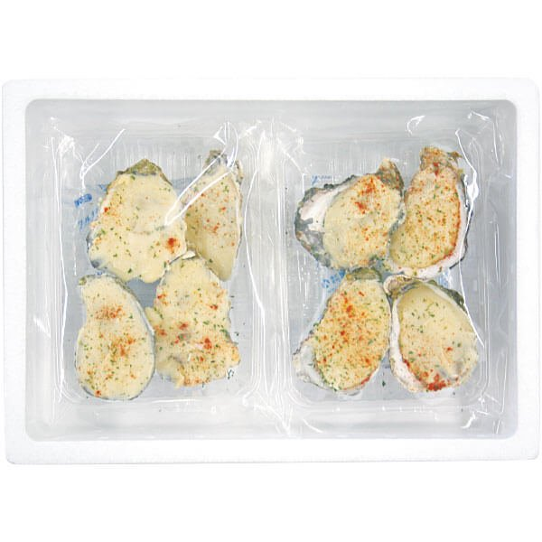 広島産冷凍殻付かきグラタン8個入 の商品写真