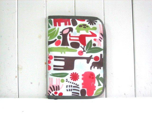 母子手帳ケース サファリ レッドH PVC L