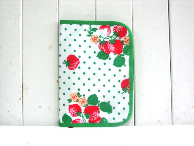 母子手帳ケース STRAWBERRY DOT H PVC L