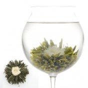 #12 花芯牡丹(かしんぼたん)スノウホワイトペタル(白雪姫)Snow White Petal 緑茶[黄山毛峰] と白菊の工芸茶