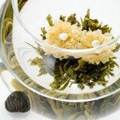 #17 緑明珠(りょくめいじゅ)グリーンジュエル Green Jewel 緑茶[黄山毛峰] と菊の工芸茶