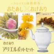 【Web限定】[わけありxおためし]アリエルポット&康藝銘茶3種セット(在庫限り)