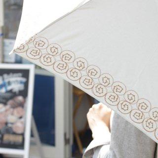 【刺繍タイプ】korko(コルコ)/ 晴雨兼用 刺繍 折りたたみ傘 / シナモンロール 【UPF50+】【紫外線カット率90%以上】