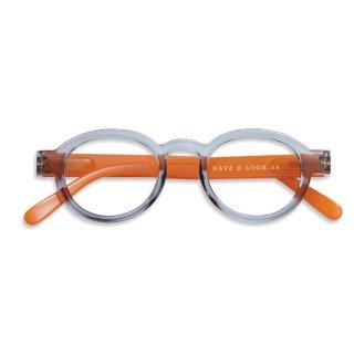 Have a look / リーディンググラス / Circle Twist / グレー・オレンジ / 度数1.0〜3.0 / ハブアルック / 既成老眼鏡 /北欧デザイン