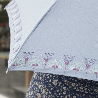 【刺繍タイプ】korko(コルコ)/ 晴雨兼用 刺繍 折りたたみ傘 / ウルリクスダール城の庭園 【UPF50+】【紫外線カット率90%以上】