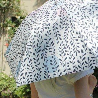 【プリントタイプ】korko(コルコ)/ 晴雨兼用 折りたたみ傘 / クライミング・リーヴス【UPF50+】【紫外線カット&遮光率99%以上】