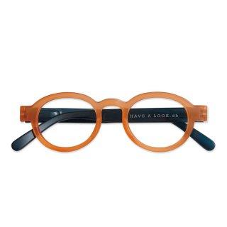 Have a look / リーディンググラス / Circle Twist / オレンジ・ブルー / 度数1.0〜3.0 / ハブアルック / 既成老眼鏡 /北欧デザイン
