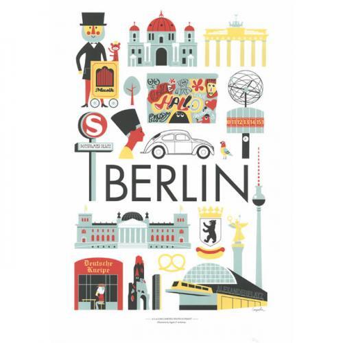 インゲラ・アリアニウス Ingela P. Arrhenius ポスター (A3サイズ/ベルリン)/北欧デザイン ※フレーム付