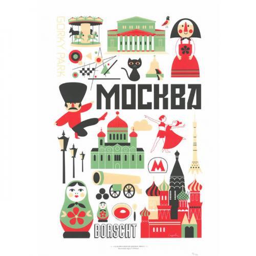 インゲラ・アリアニウス Ingela P. Arrhenius ポスター (A3サイズ/モスクワ)/北欧デザイン ※フレーム付