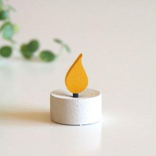 LARSSONS TRA ラッセントレー 木製置物 ウッドティーキャンドル (ホワイト)