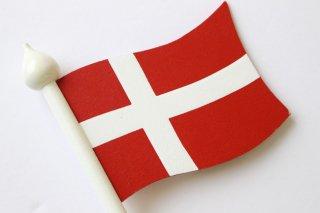 LARSSONS TRA ラッセントレー 木製置物 北欧テーブルフラッグ (デンマーク)