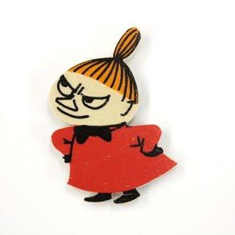 ムーミン Moomin/木製マグネット (見上げるミィ)