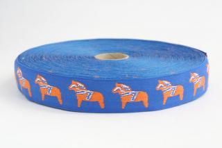 【ネコポス発送可】チロリアンテープ ダーラヘスト (ブルー/1m単位の計り売り)/ラッセントレー LARSSONS TRA