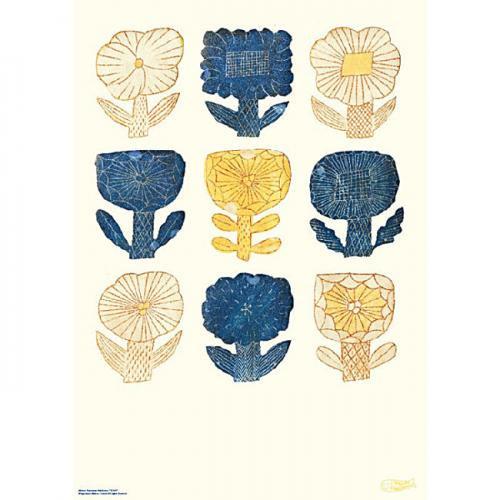 鹿児島 睦(かごしま まこと) 図案ポスターB FLOWERS(in the morning) ※パネルなし※