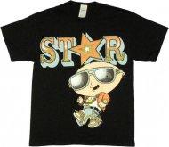 ファミリーガイ Tシャツ 【通常】  Stewie Star アメリカ輸入正規ライセンス 正規品